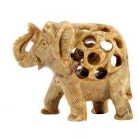 Soška Slon kámen 2v1 6,5 cm Indie