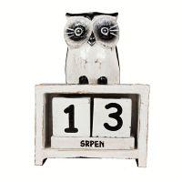 Zobrazit detail - Kalendář Sova bílá 15 cm