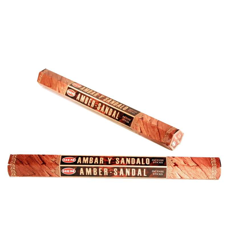 Vonné tyčinky Hem Amber Sandal - Ambra Santal