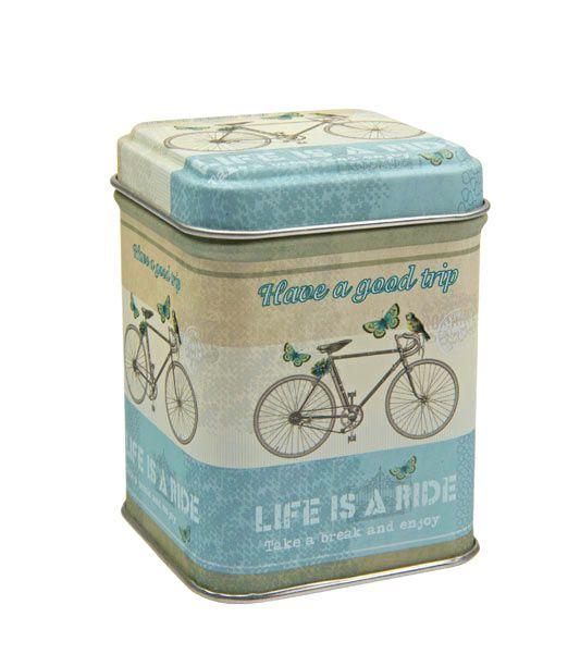 Dóza na čaj Bicykl 50 g plech