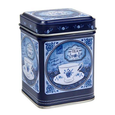 Dóza na čaj Modrobílá romance 100 g plech Oxalis