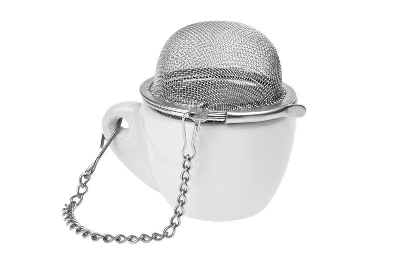 Sítko na čaj závěsné Koule s mini šálkem 4,5 cm Oxalis