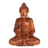 Soška Buddha dřevo 42 cm