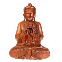 Soška Buddha dřevo 42 cm IV