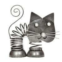 Soška Kočka kov pružina 11 cm Indonesie