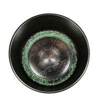 Tibetská mísa Mantra 17 cm černá s paličkou Indie