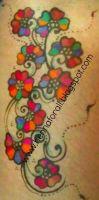Golecha barva na tělo 23 g růžová Henna Golecha