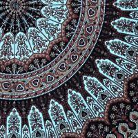 Přehoz na postel Flowerstar tyrkys-zelený 190 x 130 cm Indie
