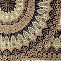Přehoz na postel Flowerstar zelený 190 x 130 cm Indie
