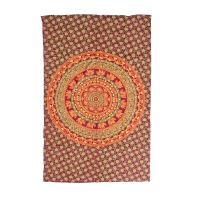 Přehoz Mandala Sloni fialový 200 x 130 cm