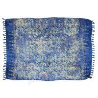 Plážový šátek sarong, pareo Džungle modrý