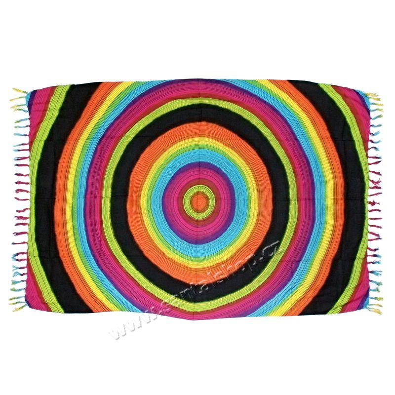 Plážový šátek sarong, pareo Ring duhový