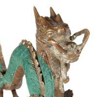 Soška Drak kov 8 cm patina Indonésie
