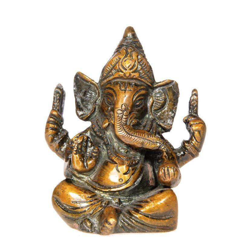 Soška Ganéša (Ganesh) kov 09 cm II Indie