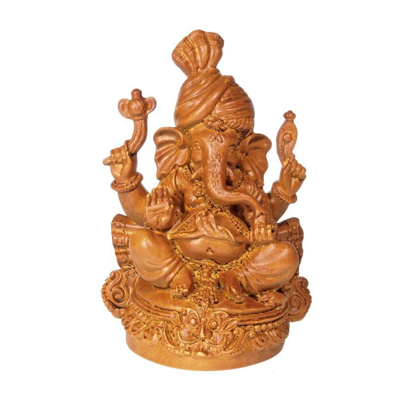 Soška Ganéša (Ganesh) resin 12 cm v turbanu Čína