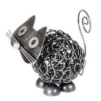 Soška Kočka kov klubko 9 cm