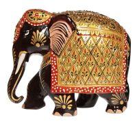 Soška Slon dřevo 13 cm color