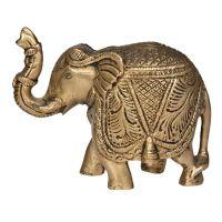 Soška Slon kov 08 cm Indie