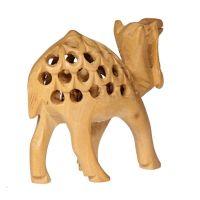 Soška Velbloud dřevo 06 cm prořezávaný Indie