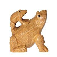 Soška Žáby dřevo 08 cm sloup