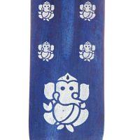 Stojánek na vonné tyčinky - lyže Hindu Ganesh modrý Indie