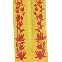 Stojánek na vonné tyčinky - lyže Hindu kytky žlutý Indie