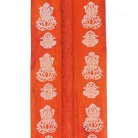 Stojánek na vonné tyčinky - lyže Hindu Lakšmí oranžový Indie