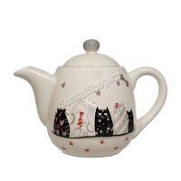 Čajová konvice Kočky sváteční 950 ml