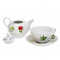 Čajová souprava Luční kvítí - tea for one porcelánová Oxalis