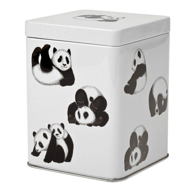 Dóza na čaj Panda 100 g plech Oxalis