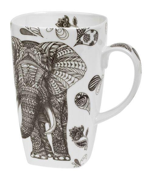 Hrnek Černý slon 600 ml porcelánový Oxalis