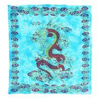 Přehoz Drak tyrkysový 225 x 200 cm