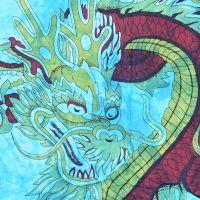 Přehoz na postel Drak tyrkysový 225 x 200 cm Indie
