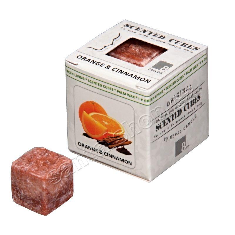 Scented cubes vonný vosk Orange & cinnamon (pomeranč & skořice)