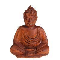 Soška Buddha dřevo 11 cm