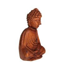 Soška Buddha dřevo 11 cm Indonesie