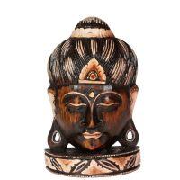 Soška Buddhova hlava dřevo 24 cm