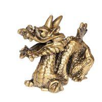 Soška Drak resin 11 cm zlatý Čína