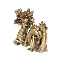 Soška Drak resin 11 cm zlatý