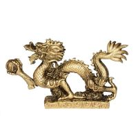Soška Drak resin 22 cm zlatý