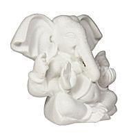 Soška Ganéša (Ganesh) resin 08 cm bílý Čína