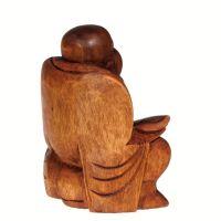Soška Hotei smějící se buddha dřevo 16 cm Indonesie