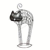 Soška Kočka kov nahrbená 50 cm