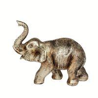 Soška Slon resin 12 cm zlatý