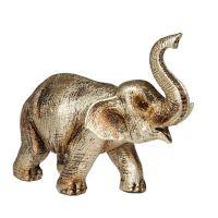 Soška Slon resin 12 cm zlatý Čína