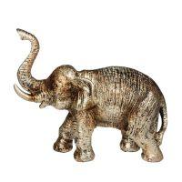 Soška Slon resin 14 cm zlatý Čína