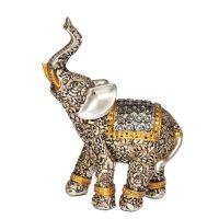 Soška Slon resin 15 cm stříbrný