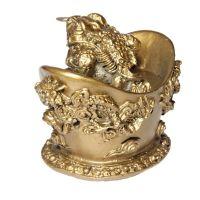 Soška Žába resin třínohá na ingotu 9 cm Čína