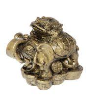 Soška Slon resin s žábou 5 cm Čína