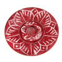 Stojánek na vonné tyčinky kámen Lotos červený